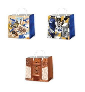 Подарункові пакети для чоловіків розмір 16 х 16 см (12 шт/уп)