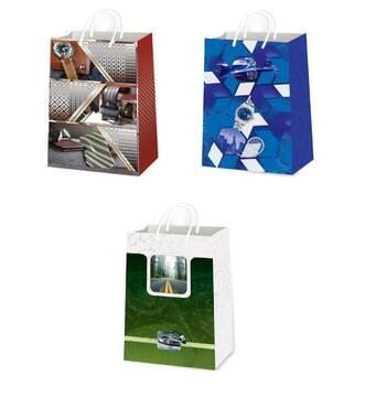 Подарункові пакети для чоловіків розмір 38 х 24 см (12 шт/уп)