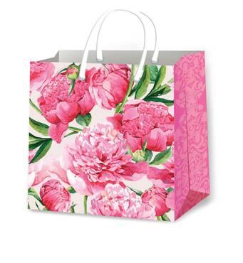 Пакети для подарунків квіткові розмір 24 х 24 см (12 шт/уп)