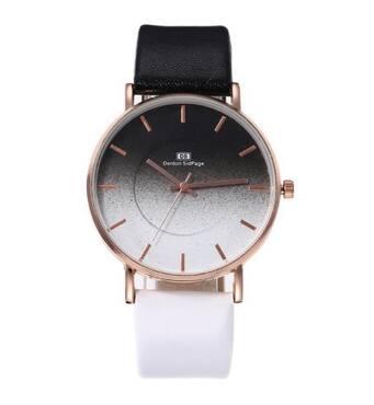 Часы DS черно-белые W411