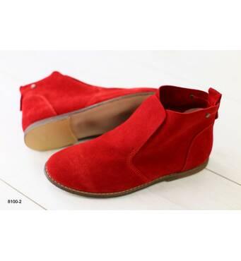 Женские демисезонные ботинки замшевые скрасные 40