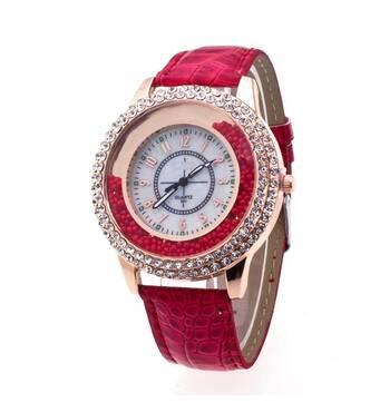Часы ABF красные W044
