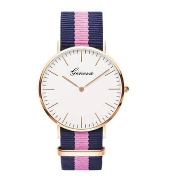 Часы GENEVA розово-синие W081