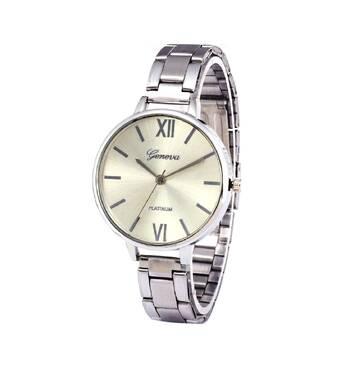 Часы GENEVA серебристые W096