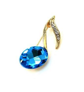 Брошь Jewel Town голубая A065