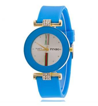 Часы ABF голубые W129