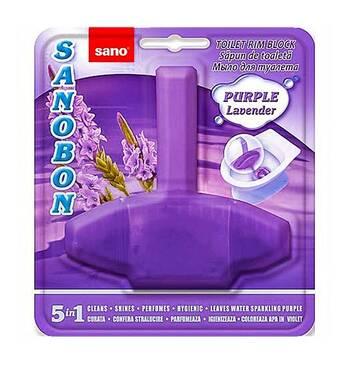 Блок для унитаза освежающий Sanobon с ароматом лаванды до 800 сливов 55 гр.