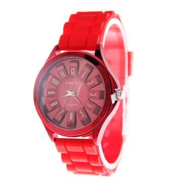 Часы ABF красные W242