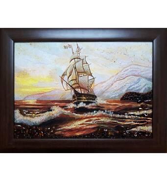 """Картина з бурштину """"Море"""" 30х40 см"""