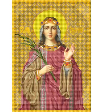 Схема для вышивки бисером Св.Екатерина