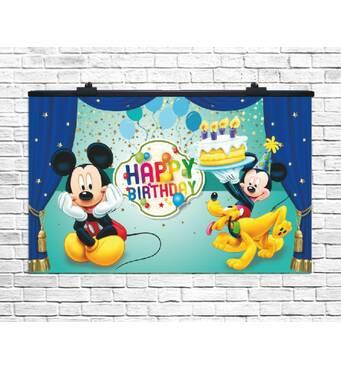 Плакат для свята Микки Маус, 75х120 см