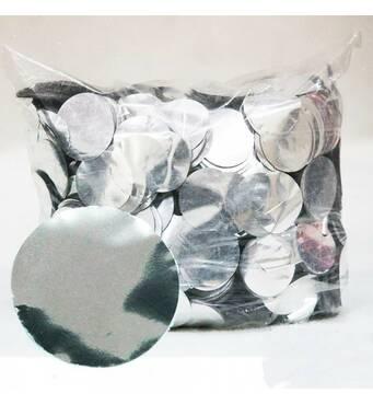Конфетті кружечки, срібні 35 мм, 50 грам