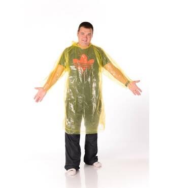 Дощовик плащ суцільний жовтий оптом