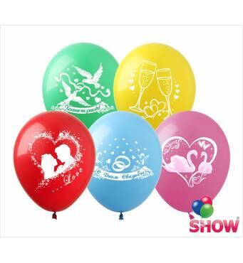 """Воздушные шары Половинка моя, белый+прозрачный 12"""" (30 см)  ТМ Multitex"""