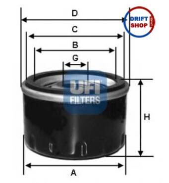 Масляний фільтр ВАЗ 2101-2107 (високий), UFI