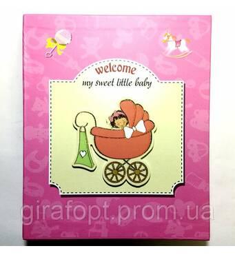 "Фотоальбом ""Little baby"" (6239) на 80 фотографий 10х15, в коробке"