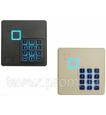 Считыватель EM, MIFARE бесконтактных карточек с кодовой клавиатурой SR102Х