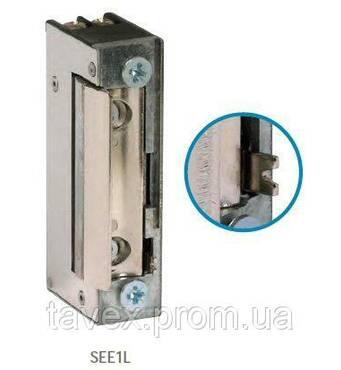Клямка електромеханічна узкпрофильная з механічним разблокиратором SEE1L