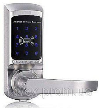 Замок електронний з доступом по сенсорній кодовій клавіатурі і/або картці FM - 01