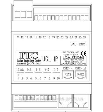 Контроллер управления комнатным освещением 6-канальный UGL-IP