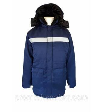 """Куртка утеплена """"Північ"""" з коміром і капюшоном 52/54 зростання 170/176"""