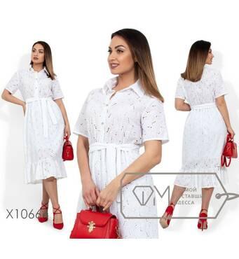 Платье-миди жіноче, батал р.  48-50, 52-54  Фабрика Моди XL X10664, Білий