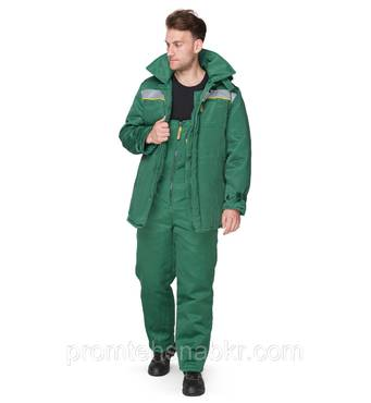 """Куртка рабочая утепленная """"Легион"""" зеленая утепленная спецодежда, спецодежда теплая."""