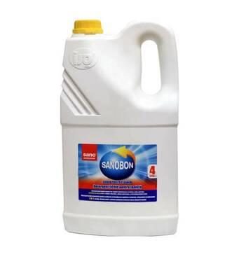 Засіб для видалення іржі та вапняного нальоту з унітазів SANO Professional Sanobon Liquid Lemon, 4L