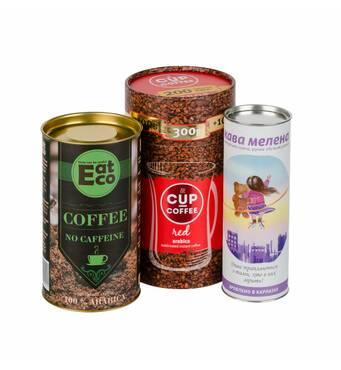 Картонні тубуси під чай та каву
