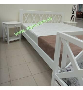 Кровать Л236 с тумбами в стиле Прованс из массива дерева