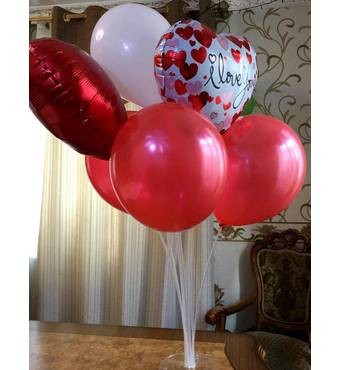 Набор из 7 шаров I Love You
