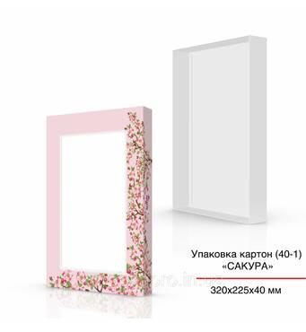 Упаковка картон (40-1), 320х225х40 мм, Сакура