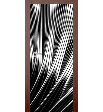 3D двері Чорно-біла феєрія 9259, 60х200 см