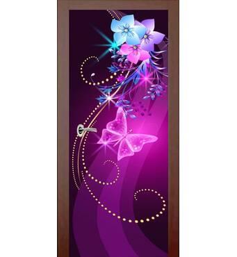 3D двері Неонова ніжність 9261, 60х200 см