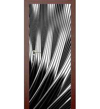 3D двері Чорно-біла феєрія 9259, 90х200 см