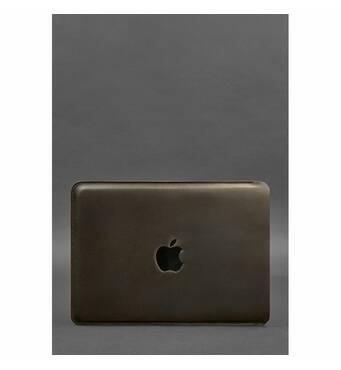 Шкіряний чохол для MacBook Pro 13'' Темно-коричневий