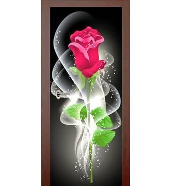 3D двері Ніжна троянда 9452, 60х200 см
