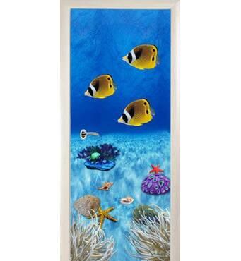 3D двері Тропічні рибки 8495, 80х200 см