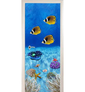 3D двери Тропические рыбки 8495, 90х200 см