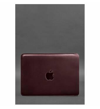Шкіряний чохол для MacBook Pro 13'' Бордовий