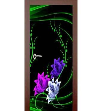 3D двери Неоновый букет 927, 60х200 см
