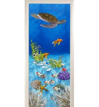 3D двері Морська черепаха 8494, 60х200 см