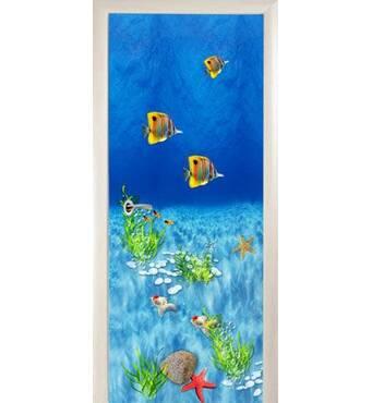 3D двері Тропічні рибки 8496, 70х200 см
