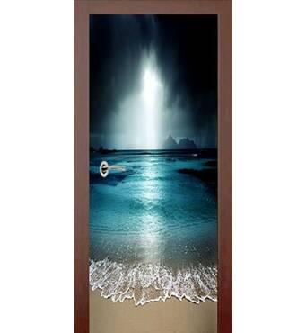 3D двері Нічний прибій 9189, 70х200 см