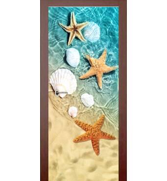 3D двери Три морские звезды 9186, 70х200 см