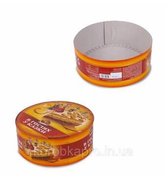 Коробка круглая под торт под заказ