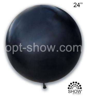 """Шар гігант чорний 24"""" (60 см) Арт Шоу"""