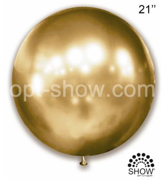 "Шар гігант Золото Хром 21"" (52,5 см) Арт Шоу"