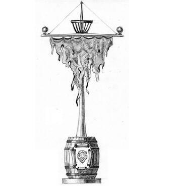 Столб для фонаря-указателя-вывески