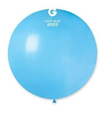 """Шар сюрприз блакитний 31"""" (80 см).  Кульки повітряні гіганти Gemar"""